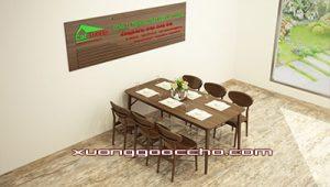Bàn ghế ăn gỗ óc chó CT712