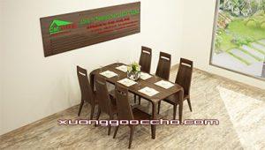 Bàn ghế ăn gỗ óc chó CT713
