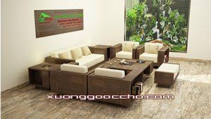 Bàn ghế gỗ óc chó CT120