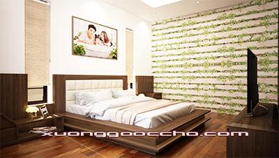 Giường ngủ gỗ óc chó CT613