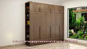 Tủ quần áo gỗ óc chó CT514 A