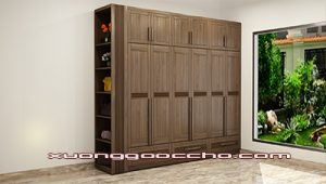 Tủ quần áo gỗ óc chó CT516 A